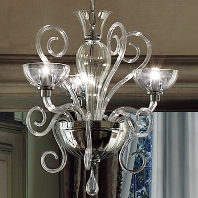 Bolero L3 Suspension 3-Light Candle-Style Chandelier Size: 39.38 H x 21.13 W, Color: Clear