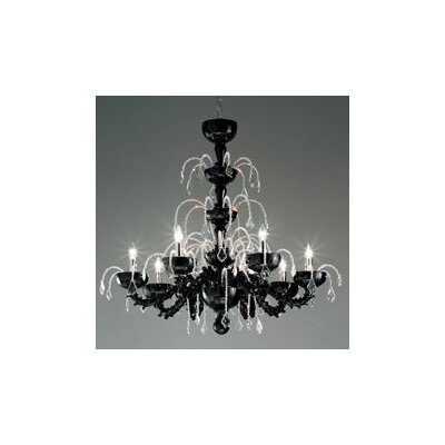 Couture 8-Light Crystal Chandelier Shade Color: White / Crystal