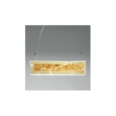 Laguna S `Canal` Finish: Orange/White, Shade Color: Amber Gold Leaf and Glass Beads