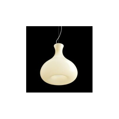 Summer S Pendant Bulb Type: 18W G24Q2 Fluorescent, Shade Color: Glossy Amber, Finish: Brushed Bronze
