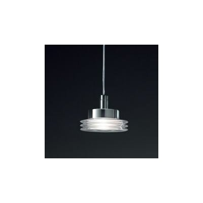 Disk 1-Light Schoolhouse Pendant Shade Color: Crystal, Finish: Brushed Nickel