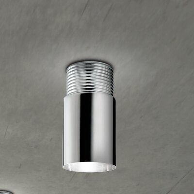 Dot Ceiling Light Finish: Chrome-White, Bulb Type: 75 Watt Incandescent