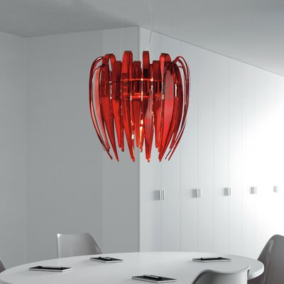Dracena Suspension  Shade Color: Red, Bulb Type: 48 W G9 T4 Incandescent