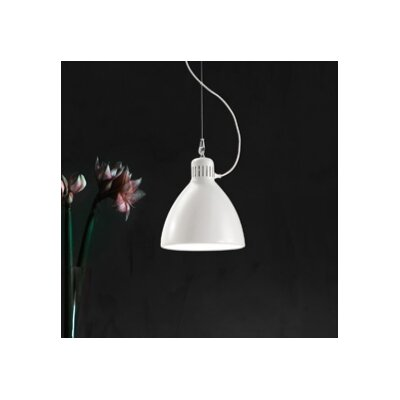 JJ 1-Light Bowl Pendant Finish: Glossy Metal, Shade Color: Glossy Black