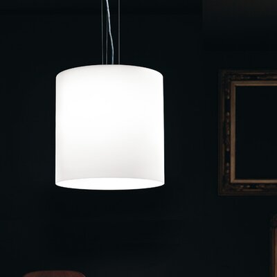 Celine S Pendant Shade Color: White Satin, Bulb Type: 18 Watt G24Q2 CFL, Finish: Brushed Nickel