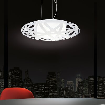 X-Ray 1-Light Bowl Pendant Bulb Type: 26 W GU24 Fluorescent