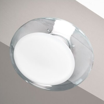 Gill Wall/Ceiling Light Finish: Clear Crystal with Gloss White Center