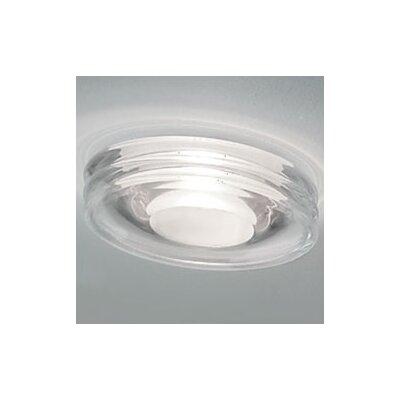 Glass Trim Recessed Housing Finish: Crystal/White Center, Bulb: Halogen