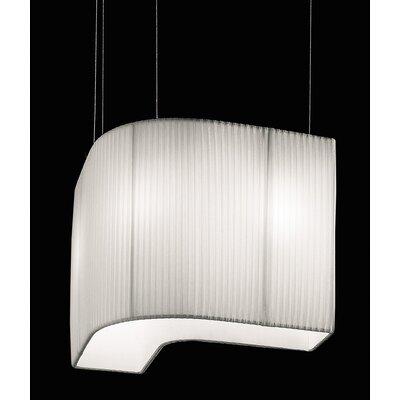 Vanity Pendant by Lino Codato Size: 14.63 H x 29.5 W x 4.75 D, Color: White, Bulb Type: 3x60 E26