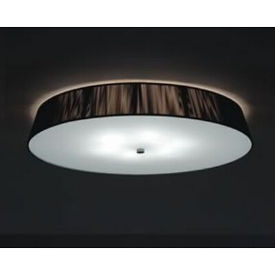 Lilith Pl 6-Light Size: 5.5 H x 28 W, Finish: Mocha, Bulb Type: 6x40 E26