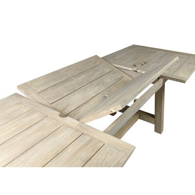 Lakewood Dining Table Table Size: 157 L x 39 W, Finish: Driftwood Gray