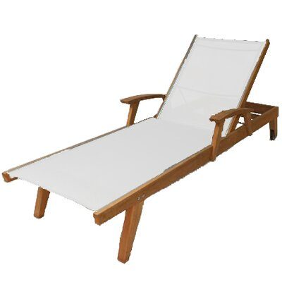 Bayhead Chaise Lounge Fabric: White