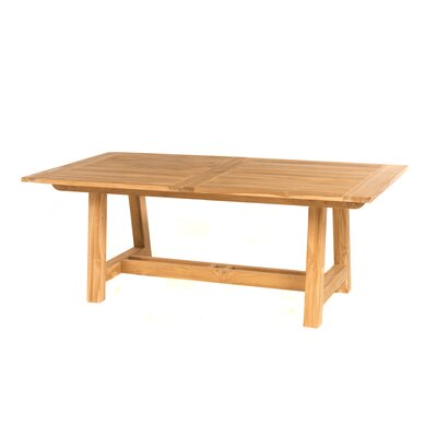 Lakewood Dining Table Table Size: 118 L x 39 W, Finish: Natural