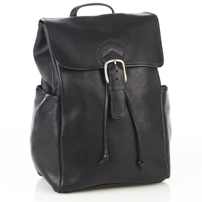 Aston Leather Backpack with Side Pockets - Color: Brown at Sears.com
