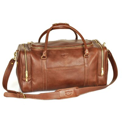 "22"" Leather Travel Duffel Color: Brown"
