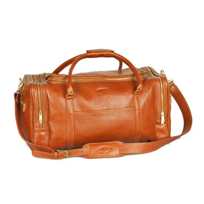 "22"" Leather Travel Duffel Color: Tan"