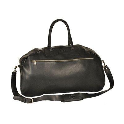 """24"""" Leather Gym Bag Color: Black"""