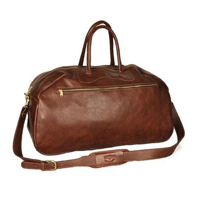 """24"""" Leather Gym Bag Color: Brown"""