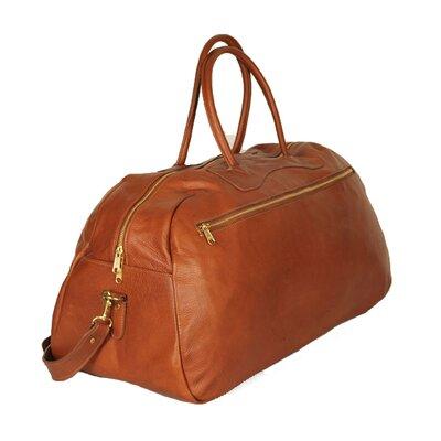 """24"""" Leather Gym Bag Color: Tan"""