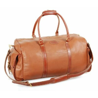 "24"" Leather Carry-on Duffel With Side Pockets Color: Brown"