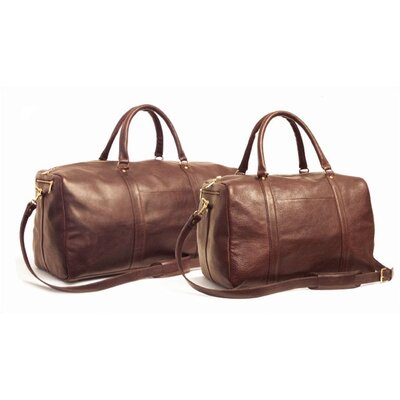 "24"" Leather Travel Duffel Color: Brown"