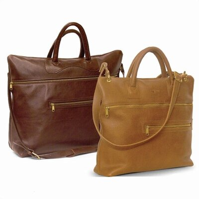 Aston Leather Large Boarding Tote - Color: Tan