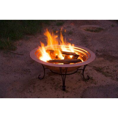 "Easy financing Copper Fire Pit Set Size: 24""..."