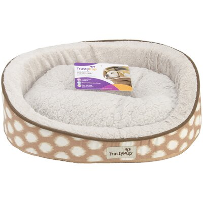Ikat Dog Bed Color: Brown, Size: 20 L x 16 W