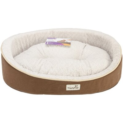 Dog Bed Size: 26 L x 21 W, Color: Brown