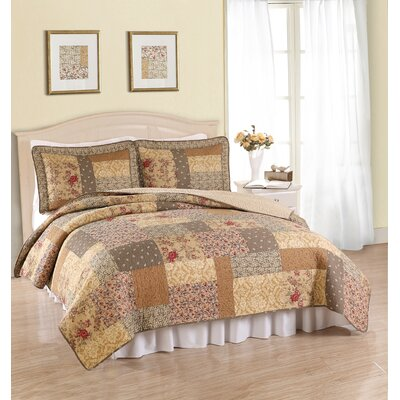 American Traditions Heather Coverlet Set - Size: King