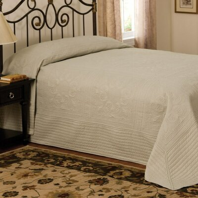 French Tile Bedspread in Sage