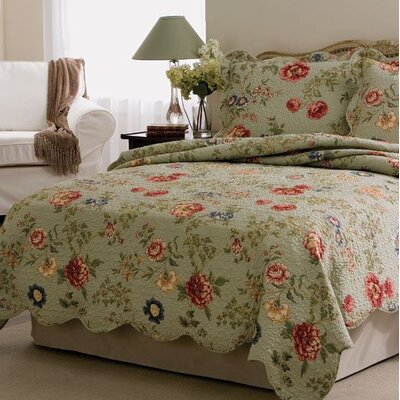 Edens Garden 3 Piece Quilt Set Size: Full / Queen
