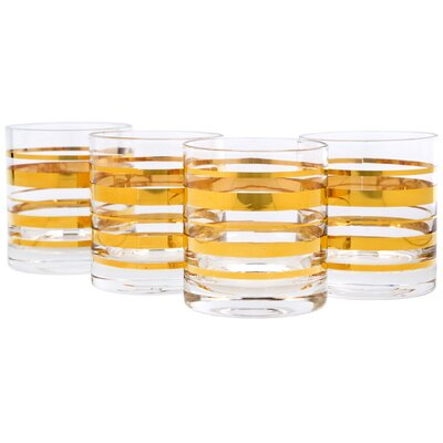 Feingold Posh Gold Bangle Double 10 oz. Old Fashioned Glass 2CE3FABDD9DD45B4B53579DCB332984E