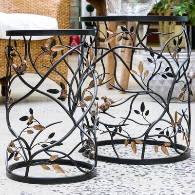 Plumville 2 Piece Nesting Tables Color: Black