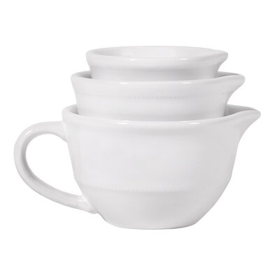 3 Piece Bright Measuring Cup Set Color: White 66063