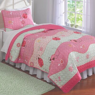 Garden Waves Quilt Set Size: Twin