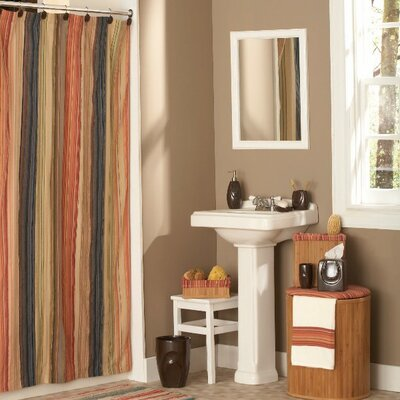Bath Cotton Shower Curtain Size: 54 x 78