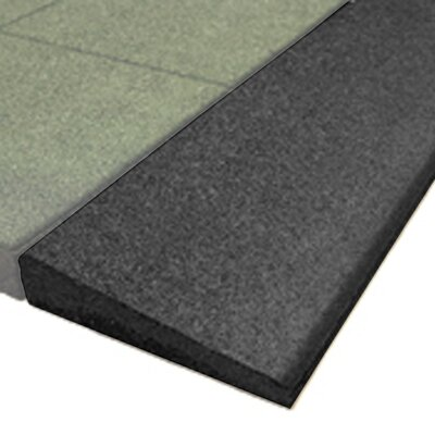 PlayFall 2.50 x 40 Playground Safety Surfacing Bevel Edge Border in Black