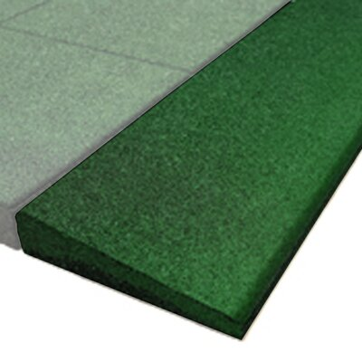 PlayFall 2.50 x 40 Playground Safety Surfacing Bevel Edge Border in Green