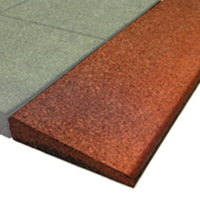 PlayFall 1.75 x 40 Playground Safety Surfacing Bevel Edge Border in Red