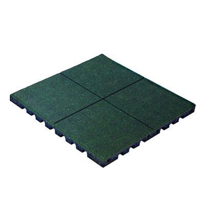 PlayFall 2.50 x 24 Playground Safety Surfacing Terra Cotta Rubber Tile in Green