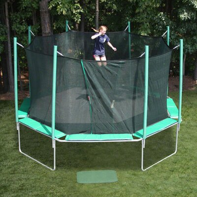 KIDWISE 16 ft. Octagon Trampoline with Enclosure - Pad Color: Purple/Yellow at Sears.com