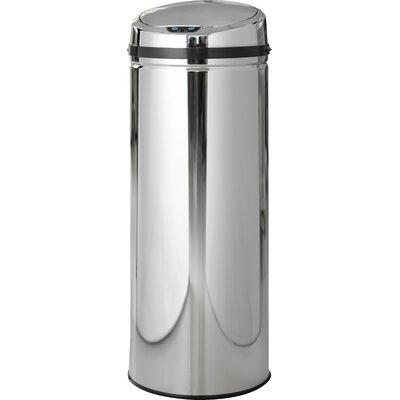 50 L Mülleimer Rimini aus Edelstahl | Küche und Esszimmer > Küchen-Zubehör > Mülleimer | Silber | Steel Function