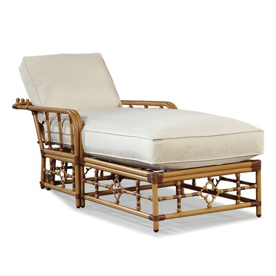 Mimi Chaise Lounge with Cushion Fabric: Vesper White