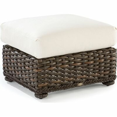 South Hampton Ottoman with Cushion Fabric: Vesper Vapor