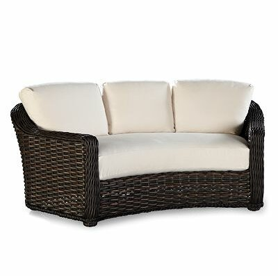 South Hampton Crescent Settee with Cushions Fabric: Vesper Tamale