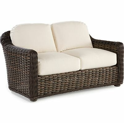 South Hampton Loveseat with Cushions Fabric: Vesper White
