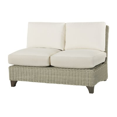 Requisite Armless Loveseat with Cushions Fabric: Vesper White