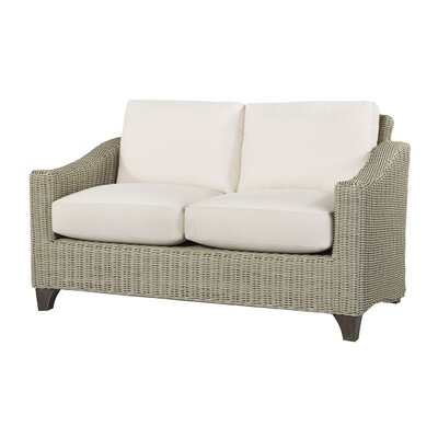 Requisite Loveseat with Cushions Fabric: Vesper Aqua