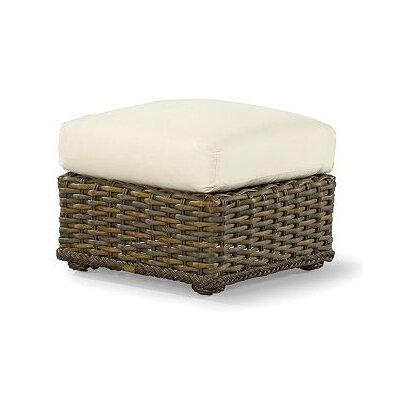South Hampton Ottoman with Cushion Fabric: Vesper White